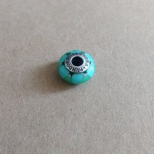Pandora Blue Green Glass Charm